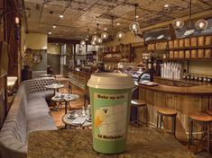 Interior design Business Coffee Shop - How do you design a café and coffee house with a sense of history in a neighborhood that has little of its own