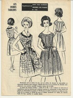 Vintage Sewing Pattern 1960's Ladies Dress French by Mrsdepew, $8.00