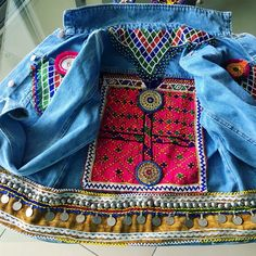 A personal favorite from my Etsy shop https://www.etsy.com/listing/269552638/handcrafted-embellished-denim-jacket