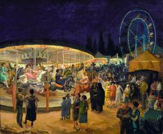 John Sloan >> Voyager Carnaval, Santa Fe  |  (huile, reproduction, copie, tableau, oeuvre, peinture).