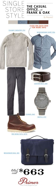 Introducing Single Store Style: A Complete Getup from One Place – The Casual Office with Frank & Oak | Primer
