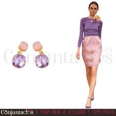 Pendientes Daniela rosa ★ 12'95 € en https://www.conjuntados.com/es/pendientes/pendientes-medianos/pendientes-daniela-con-doble-cristal-rosa.html ★ #novedades #pendientes #earrings #conjuntados #conjuntada #joyitas #lowcost #jewelry #bisutería #bijoux #accesorios #complementos #moda #fashion #fashionadicct #picoftheday #outfit #estilo #style #GustosParaTodas #ParaTodosLosGustos