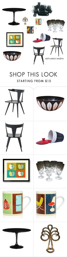 """Mid Century"" by trijak ❤ liked on Polyvore featuring interior, interiors, interior design, home, home decor, interior decorating, Magpie & Jay, Zuo and kitchen"