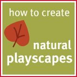 Lots of suggestions for implementing natural play scapes in your backyard.