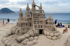 that is one huge sand castle