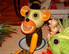 How to make really cute fruit animals