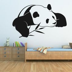 Children's vinyls with animals panda bear