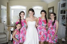 Lilly bridesmaids dresses.