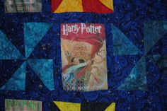 How to print images to sew  A close-up view of the handmade magical Harry Potter quilt.
