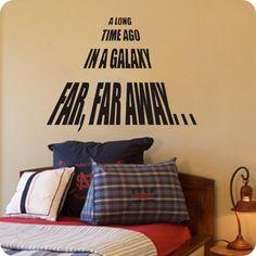 A Long Time Ago Star Wars Vinyl Wall Decoration - Star Wars Decorations #decoration  #decor #starwars @ https://starwargift.com/best-star-wars-decorations/