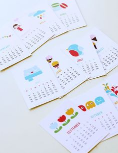 Printable 2015 Calendar – Year of Colour