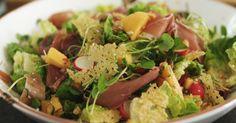 Salade met rauwe ham en meloensalsa | Dagelijkse kost