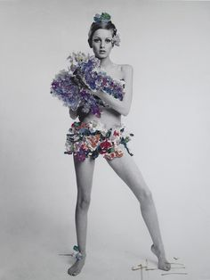 Twiggy photographed by Bert Stern for Vogue, 1967.