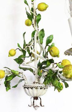All About Tole: Chandeliers, Lamps, Sconces & Tables Diy Chandelier, Tole, Lemon Decor, Table Lamp Lighting, Lamp, Sconces, Vintage Lampshades, Sitting Room Lights, Chandelier