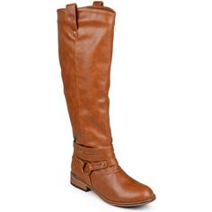 Journee Collection Walla Riding Boots - Wide Calf, Chestnut (Size: 7 Medium) - Womens > Boots > Riding Boots