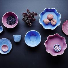 Blue Embossed Stoneware Fruit Bowl By Rice DK - Vibrant Home