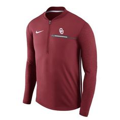 Nike Men's University of Oklahoma Coaches 1/4 Zip Pullover (Red Medium, Size Large) - NCAA Licensed Product, NCAA Men's Fleece/Jackets at Academy S...