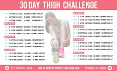 Day Thigh Challenge Girls, are you ready for the 30 day thigh challenge?Girls, are you ready for the 30 day thigh challenge? Fitness Workouts, Fitness Herausforderungen, Sport Fitness, At Home Workouts, Cheer Workouts, 30 Day Thigh Challenge, 30 Day Workout Challenge, Plank Challenge, Body Challenge