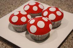 toadstool cupcake -