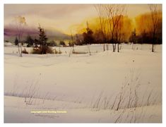 sterling edwards peidmont snow scene