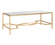 Table basse PEYTON, doré - 121*46
