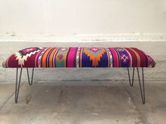 colourful | boho | bench |