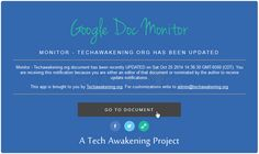 Get Email Notifications When Any Shared Google Document is Updated Or Revised - techawakening.org/?p=3055