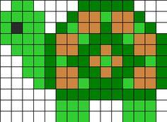 Perler Turtle Perler Bead Pattern / Bead Sprite