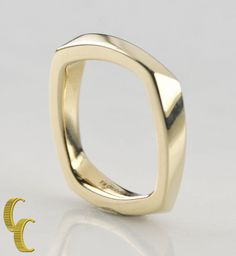 Tiffany & Co. 18k Yellow Gold Torque Ring by Frank Gehry Size 4.5 Retired! #TiffanyCo #Band