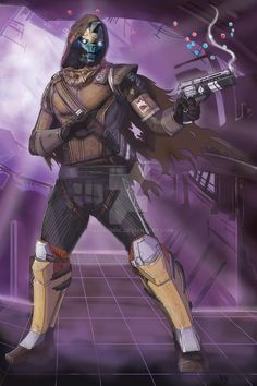Destiny Cayde6 Destiny Cayde 6, Destiny Hunter, Destiny Bungie, Cry Anime, Anime Art, Character Art, Character Design, Hunter Outfit, Gamers Anime