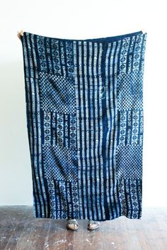 One of A Kind Vintage Indigo Shawl From Mali