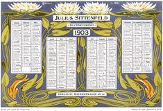 Otto Eckmann, Seerosen, Lithographie, Archiv für Buchgewerbe 1904