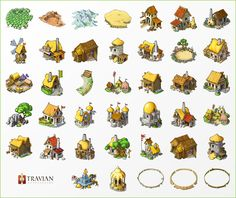 Some pretty cool colored cartography elements can be used in this.  New travian T4 buildings by ~travian-browsergame on deviantART