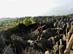 Climbing the stone forest in Madagascar Madagascar, Fauna, Africa Travel, Outdoor Travel, Climbing, The Good Place, Travel Destinations, Earth, Mountains