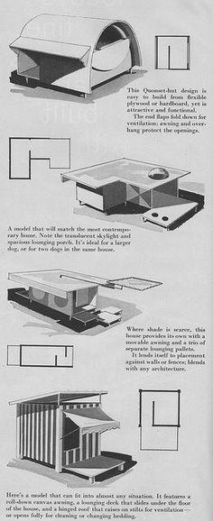 Mid-century dog house plans!