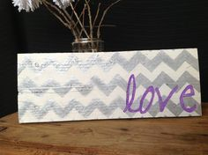 Lovely Handmade chevron design wood sign by Cynthiaswoodensigns, $11.50