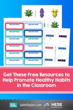 These posters, stickers, and lesson plans can help you teach hygiene and promote healthy habits in the classroom. #teacher #health #healthyhabits #classroomideas #backtoschool Healthy Schools, Healthy Kids, Healthy Habits, How To Stay Healthy, Montessori Classroom, Classroom Teacher, Classroom Ideas, High Touch, Kids Corner