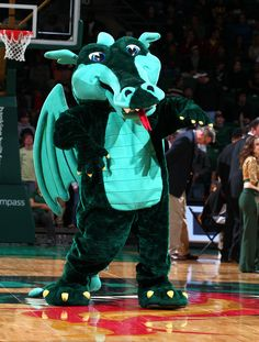 Blaze, the fiery but friendly dragon, from UAB.