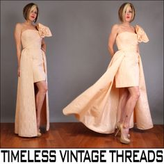 vtg-80s-AVANT-GARDE-High-Low-MOIRE-TAFFETA-Jeweled-ORIGAMI-Dress-Prom-GOWN-S-M