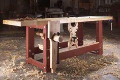 LVL Roubo workbench, by Megan Fitzpatrick Woodworking For Kids, Beginner Woodworking Projects, Woodworking Workbench, Popular Woodworking, Woodworking Shop, Workbench Designs, Workbench Ideas, Carpenter Work, Woodworking