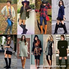 What to Wear with Knee-high Boots this Fall 2013