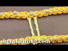 How to Make Thicker Twisted Bride (Bar) Tutorial 50 Part 2 of 9 Romanian Point Lace - YouTube