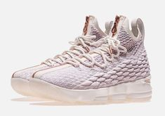 best loved c5dd7 6cfeb Official 2018 Kith X Nike Lebron 15 Rose Gold Christmas Day Shoe