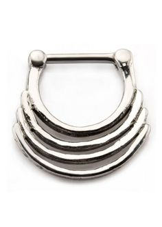 The 16 gauge quad stack septum clicker is made entirely from stainless steel. The interior diameter is measured inside the clicker from top to bottom. Before I Forget, Black Hole Sun, Septum Clicker, Body Jewelry, Jewellery, 316l Stainless Steel, Gothic Jewelry, Quad, Really Cool Stuff