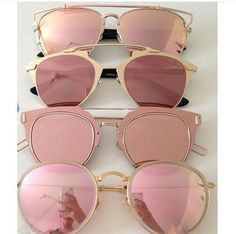 """Rose-tinted sunglasses. Gives a different meaning to """"La Vie en Rose"""""""