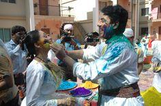 Taarak Mehta and Daya ben enjoying Holi Fest.