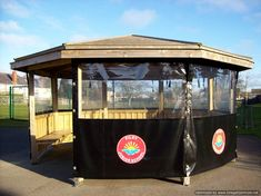 Filey School were smart enough to install all weather covers with their Outdoor Classroom - so they can use it even in our extremely Wet British Winters.