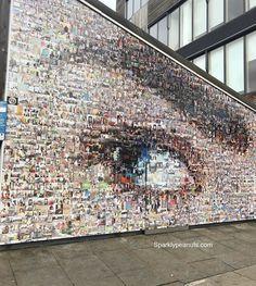 I see you weekend  #london #bermondsey #towerbridge #southeastlondon #streetart #eye #collage #weekend #timeforsleep #random #pigeontalks