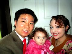 Rachel, an American with her Chinese husband, Will, and daughter Angeline.