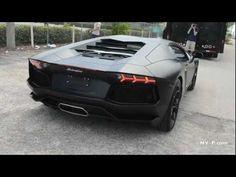 OMG Matte Black Lamborghini Aventador